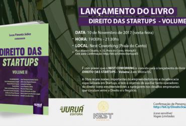 """Lançamento do Livro """"Direito das Startups Vol II"""""""